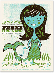 Franz Ferdinand poster (tad carpenter) Tags: new flowers fish illustration poster franzferdinand doodle silkscreen tad mermaid carpenter