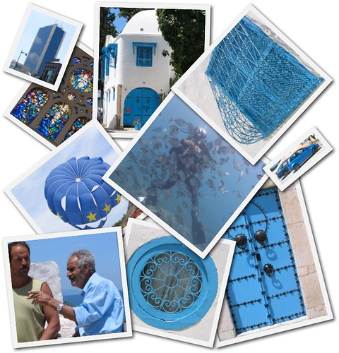Blue Tunis collage