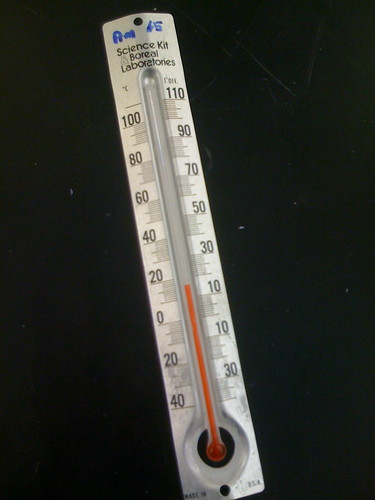 thermometer close English