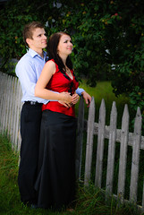 Beautiful couple looking to future (Markku Heikkil Photography) Tags: summer people woman man smile smiling fence finland wooden couple woodenfence adults nikond80 gettyimagesfinlandq1