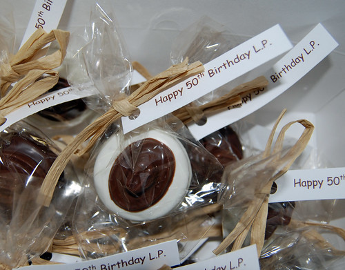 chocolate dipped oreo cowboy hat 50th birthday favors