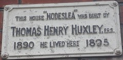 Photo of Thomas Henry Huxley green plaque