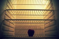 il veleno del vuoto (bryenh) Tags: red apple nikon empty fame hunger refrigerator void poison crisis mela biancaneve snowhite vuoto crisi frigorifero veleno d40 crisieconomica nikond40 economiccrisis