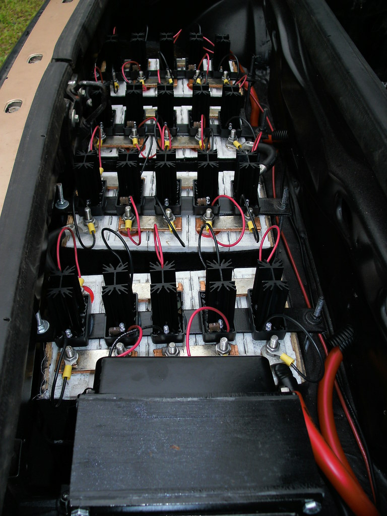 E-Fiero: LL Labs - LiFePO4 Cellular Charge Regulators Installed - Rear Pack