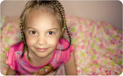 Bedtime (isayx3) Tags: pink portrait smile nikon ray dof child princess bokeh flash 28mm sigma ring bedtime 365 braids f18 studios d3 sb800 strobist plainjoe rayring