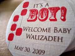 baby boy! shower hang tags
