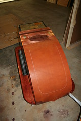 Bike Trailer - Working (Cookgypsy) Tags: make leather bike copper trailer steampunk handbuilt biketrailer