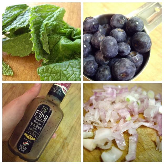 blueberry mint vinaigrette cube