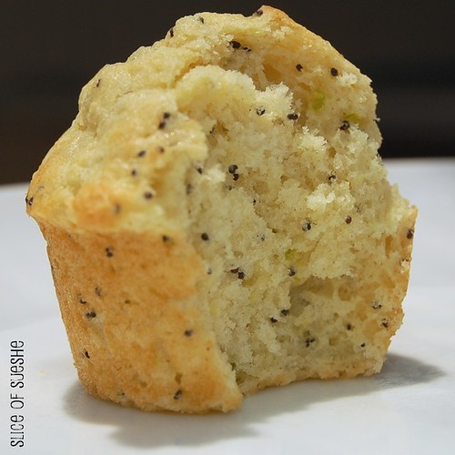 lemon-lime poppy seed mini muffins