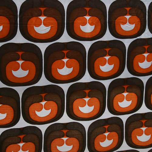 1970's Vintage Apple Fabric