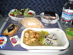 Lunch on AA flight to Los Angeles