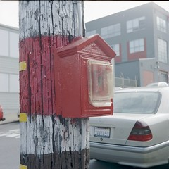 Telephone Pole Fire Box