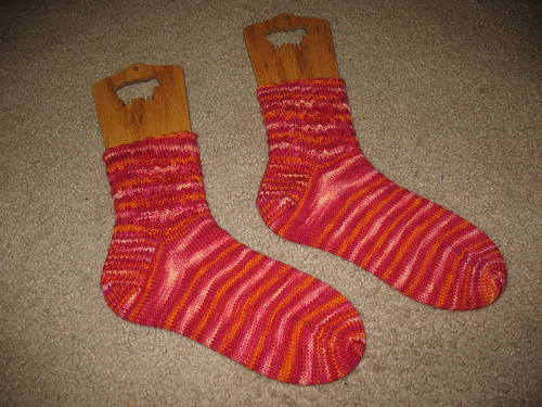 FO: Mad Color Weave Socks