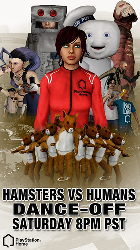 PlayStation Home Hamsters vs Humans Dance-Off