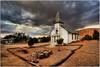 Santa Barbara Catholic Church - Randsburg, Ca (Extra Medium) Tags: abandoned desert ghosttown catholicchurch fathersday hdr californiadesert randsburg churchysunday