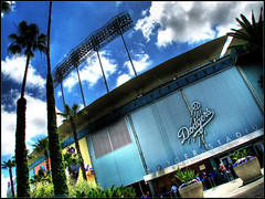 Dodger Stadium (hburrussiii) Tags: california park ca canon la major is los exterior baseball angeles stadium dodger hdr ballpark league dodgers mlb s5 3xp photomatix pwershot