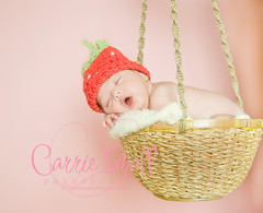 Just hanging around... (carriesmallphotography) Tags: hat nikon basket knit newborn hanging pettiskirt d300 nikond300