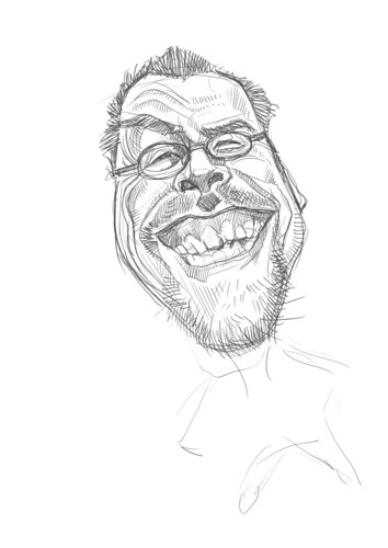digital sketch of Robert Summer (Floyd) - 2