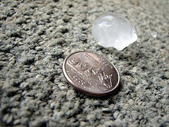 Size of hail