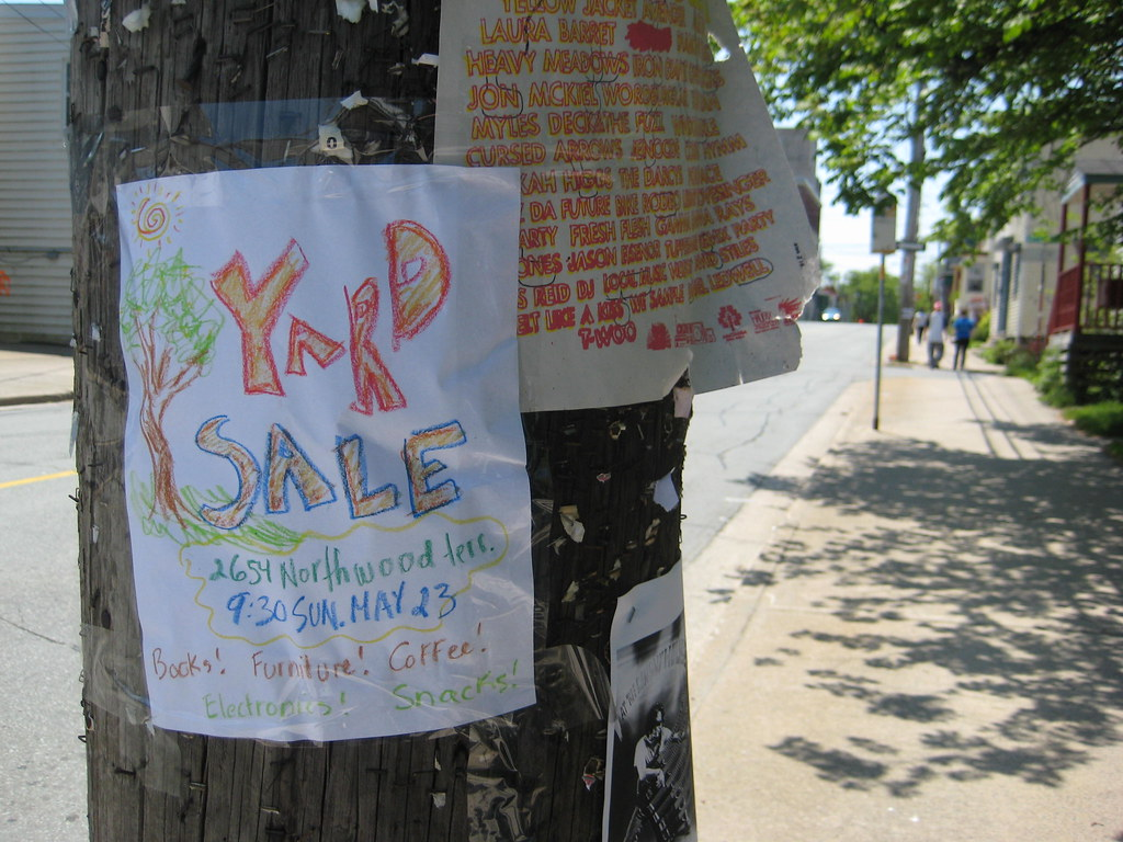 Yard Sale Poster Halifax, Nova Scotia - May 2010