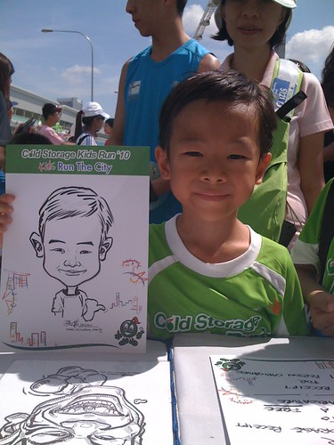 caricature live sketching for Cold Storage Kids Run 2010 - 20