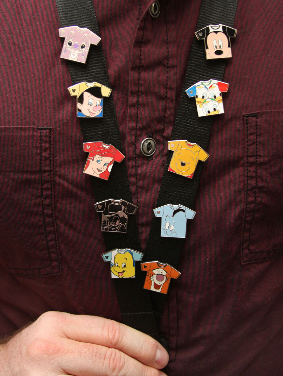 Hidden Mickey Tee-Shirt Pins Coming to Disney Parks