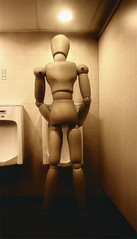 In architect's dream (PAPYRARRI) Tags: wood bw art mannequin composite sepia architecture bathroom wooden model doll puppet drawi