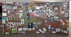 Bunches of Stickers and graffiti wall after Sticky Fingers TKO / group show at Lone Star Studios (Just in Parr) Tags: street justin art home wall graffiti tokyo stencil san stickers lushlife tie 7 tags charm made bunch letter stray seventh antonio tagging bombing stickering parr tko awk hundreds werks haeler mrawk iownyouturnitoff justinparr