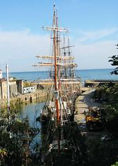 Charlestown (R~P~M) Tags: uk greatbritain sea england coast marine cornwall sailing ship unitedkingdom harbour maritime sail charlestown mast barque kaskelot earlofpembroke