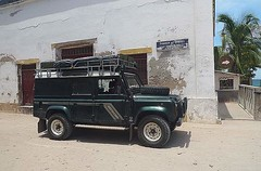 Land Rover at the old Soap Works, Ilha do Mocambique