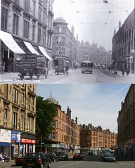 cathcart road then and now (Dave S Campbell) Tags: park street old house bus train circle florida glasgow tram mount southside then now linn past trolly cathcart muirend netherlee