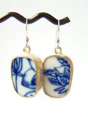 shanghai - pottery shard earrings (polishedtwo) Tags: silver handmade jewelry pottery sterling earrings etsy ming ching porcelain shards dynasty polishedtwo teametsytx teametsyaustin uwib