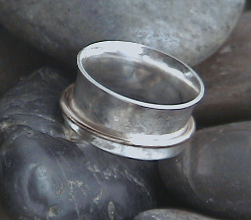 Sterling Silver and 14K Gold-filled Spinning Ring