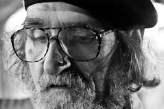 Budapest 2009 (soulsurf101182) Tags: old portrait man beard nose glasses budapest moustache painter d300budapest