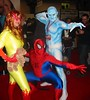 Spider-man and his Amazing Friends (BelleChere) Tags: costume cosplay spiderman iceman marvel firestar nycc newyorkcomiccon09