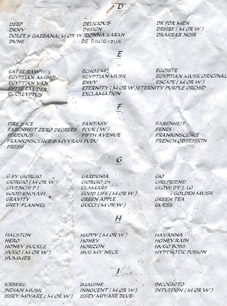 Found - Perfumes (Click to enlarge)