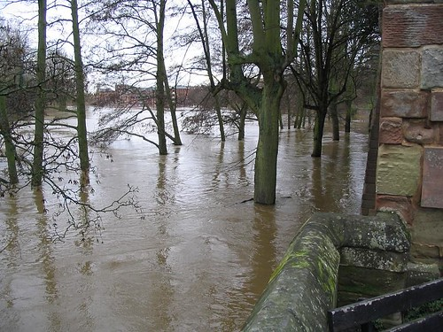 Flooded Worcester - River Severn