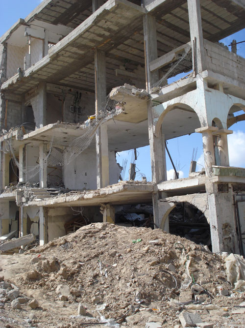 Destruction  in Rafah