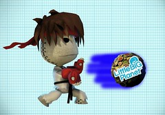 LittleBigPlanet Ryu with fireball