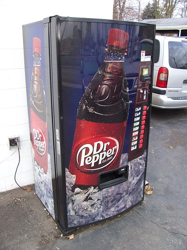dr pepper vending machine