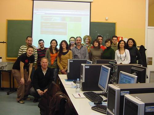 foto de grupo del taller de web 2.0 para las organizaciones federadas