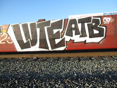 lute (digggs) Tags: yard train graffiti oakland bay east area another tight bastard freight lute atb luter