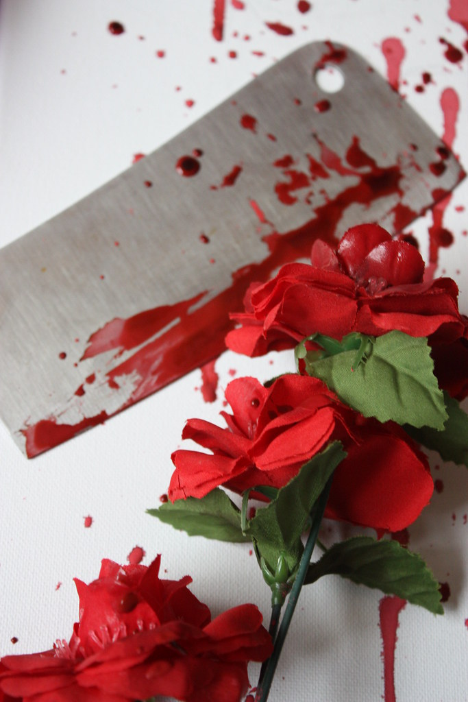 The worlds best photos of roses and splatter flickr hive mind wicked cold xchanttelx tags red roses white black rose death bottle blood kill mightylinksfo
