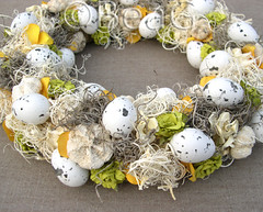 Easter Wreath (Paaskrans) (Made by BeaG) Tags: flowers original white yellow circle easter creativity design artist belgium natural designer handmade unique oneofakind ooak kunst belgi wreath creation round eggs krans homedecor unica walldecor unicum easterdecoration couronne tabledecoration doordecoration homedecoration tabledecor beag walldecoration doordecor naturalmaterials easterwreath paaskrans doorgift kunstenares uniquedesign ontwerpster originaldesigner creativedesigner driednaturalmaterials designedandmadebybeag uniekontwerp ontworpenengemaaktdoorbeag handgemaaktekrans gedecoreerdekrans kransmaken fireplacedecoration designerwreath designerwreaths