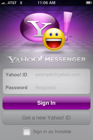 Yahoo Messenger Application