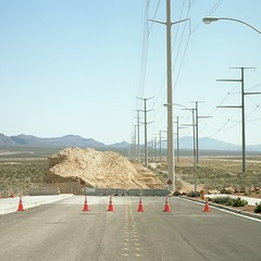 TP01 (peterbaker) Tags: road mountains desert lasvegas boulder powerlines end electricity