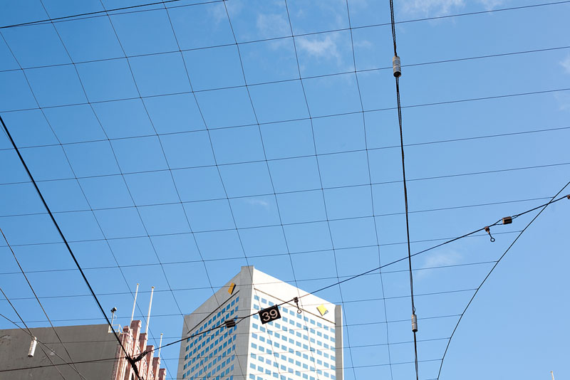 Tram lines in the sky