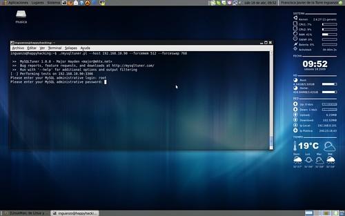 MySQL Tuner: Parametros del script