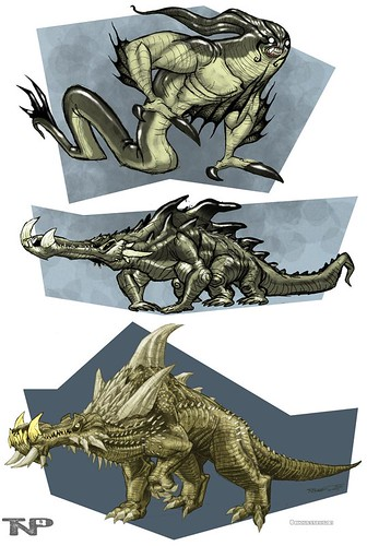 The art of ' TMNT '  :: Crocodile Monster, Cretaco i  ..Development designs  by Thomas Perkins (( 2005 - 2007 )) [[ Courtesy of Perkins ]]