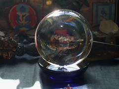 Crystal ball... (Tejananda John Wakeman) Tags: rainbow shrine crystalball